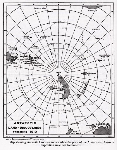 Antarctic Discoveries preceding the year 1910