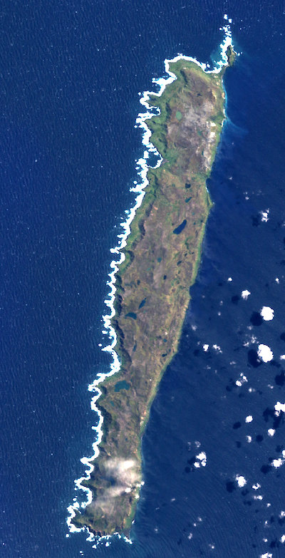 Satellite image of Macquarie Island