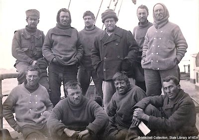 The 'Lucky Ones' - AAE Members that departed Cape Denison on the SY Aurora, February 10th, 1913