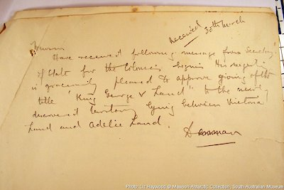 Radio messages received from King George V