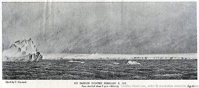 Illustration of Ice Barrier by Charles Harrisson