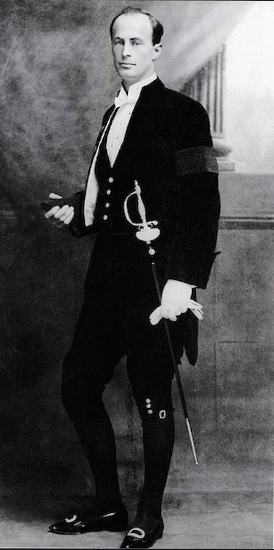 Mawson in full regalia on the occasion of his knighthood